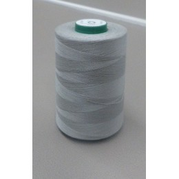 Silver grey organic cotton thread cone 5000 m