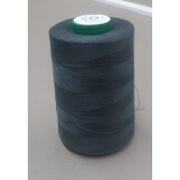 Dark grey organic cotton thread cone 5000 m