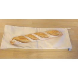 No waste fabric bag for bread 100% organic cotton