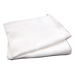 2 organic cotton white kitchen towels for hands or glasses