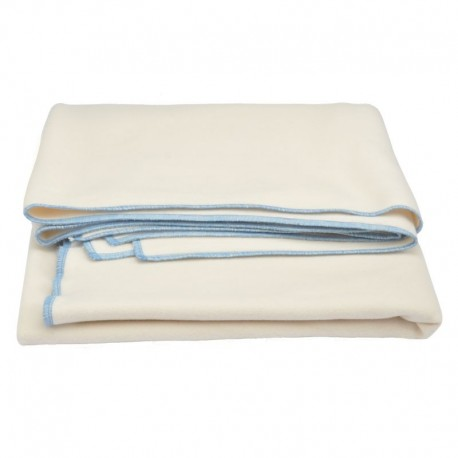 Baby cover : 100% cream organic cotton fleece