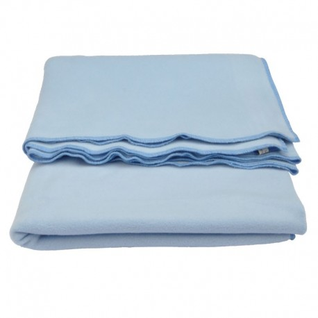 Baby cover : 100% blue organic cotton fleece