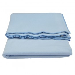 Blue organic cotton fleece blanket