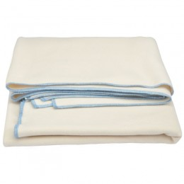 Cream organic cotton fleece blanket