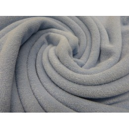 Grey blue organic cotton stretch terry GOTS certified