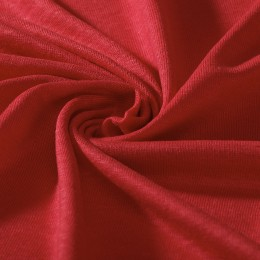Bright red linen jersey GOTS certified - Sample