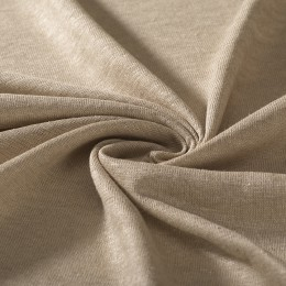 Natural color organic flax jersey GOTS certified - Sample