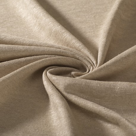 Natural color organic flax jersey GOTS certified