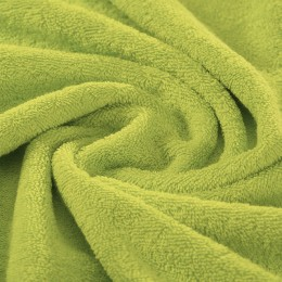 Lime green French terry 100% organic cotton Gots certified - sample