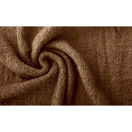 Chocolate French terry 100% organic cotton - sample