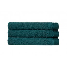 Deep green French terry 100% organic cotton Gots certified