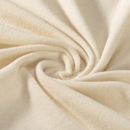 Cream organic cotton stretch terry GOTS certified - sample