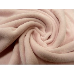 Powder pink organic cotton stretch terry GOTS certified
