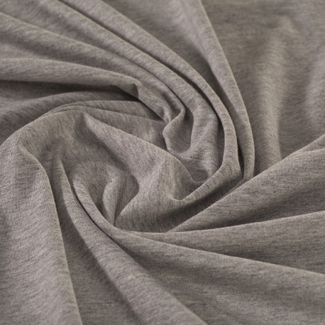 Grey marl organic cotton jersey