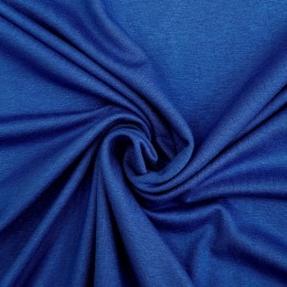 Royal blue organic cotton jersey - Sample