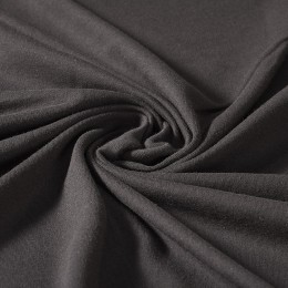 Black interlock 100% organic cotton - Sample