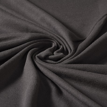 Black interlock 100% organic cotton