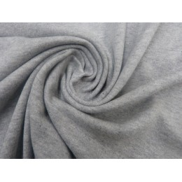 Interlock gris chiné 100% coton bio - Echantillon