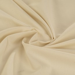 Cream organic poplin 100% GOTS certified cotton - Sample