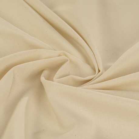 Cream organic poplin 100% GOTS certified cotton