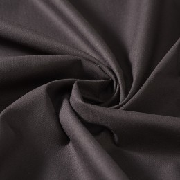 Black organic cotton poplin GOTS certified - Sample