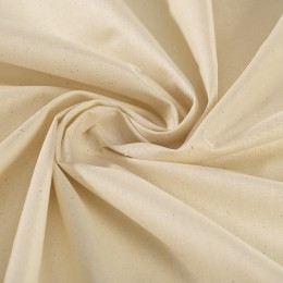 Wide width cream organic cotton poplin - Sample