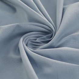 Light blue combed poplin 100% organic cotton - Sample