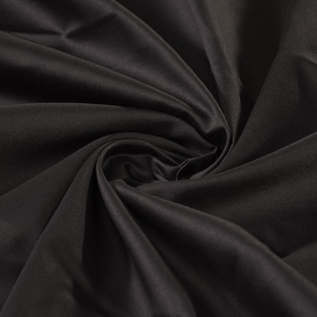 ORGANIC COTTON : BLACK COTTON SATEEN