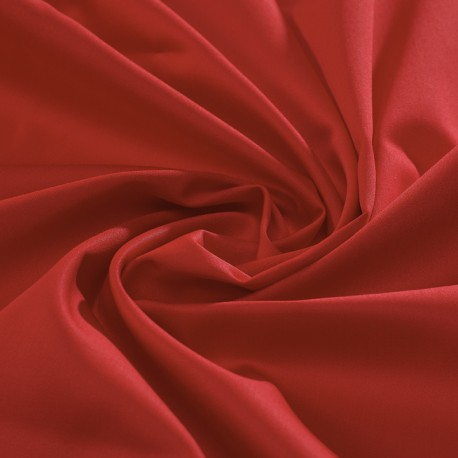 Red organic cotton sateen