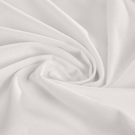 White leightweight organic cotton twill