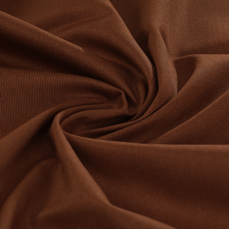Chocolat organic cotton twill 100% GOTS certified