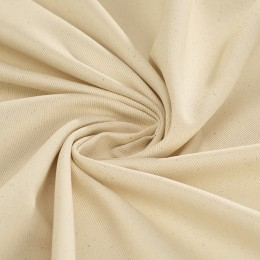 Wide width cream twill 100% GOTS certified organic cotton