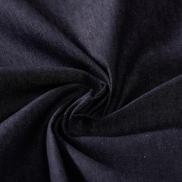 Lightweight raw dark blue organic denim 100% organic cotton - Sample