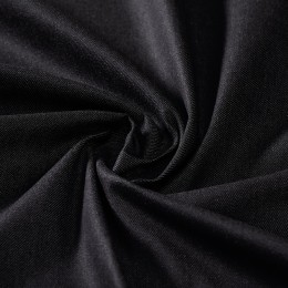 Lightweight black organic denim 100% organic cotton - Sample