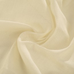 Cream organic cotton muslin - Sample
