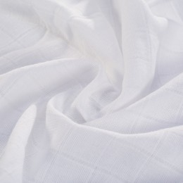 White double gauze fabric 100% organic cotton - Sample