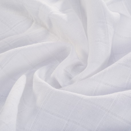 White double gauze fabric 100% organic cotton