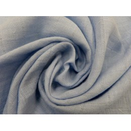 Grey blue double gauze fabric 100% organic cotton - Sample