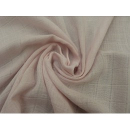 Powder pink double gauze fabric 100% organic cotton - Sample