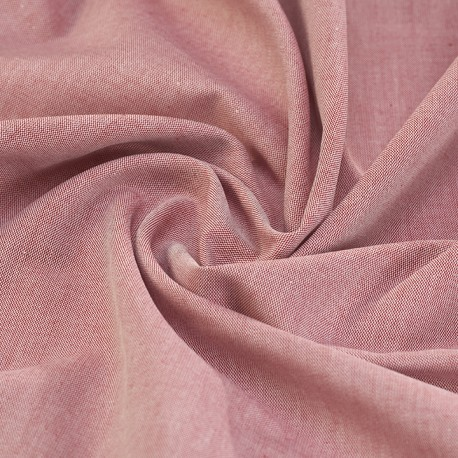 Pink oxford organic cotton shirting fabric