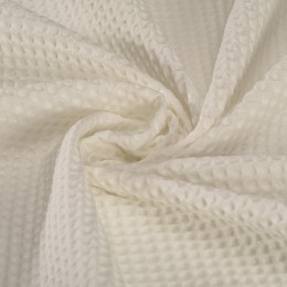 White waffle fabric 100% organic cotton - Sample