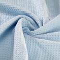 Blue waffle fabric 100% organic cotton - Sample