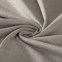 Marl grey brushed sweat 100% organic cotton - Sample