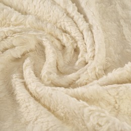 Cream lambstyle plush 100% organic cotton - Sample