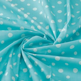 White dots on turquoise - 100% organic cotton veil