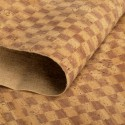Check print cork leather