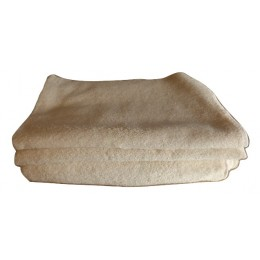 Set of organic cotton french terry fabric towels - 100% organic cotton