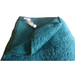 Set of organic cotton dark green french terry fabric towels - 100% organic cotton