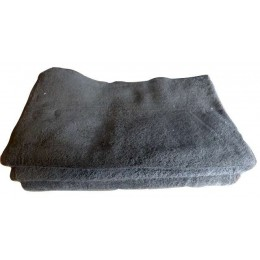 Set of organic cotton chocolate french terry fabric towels - 100% organic cotton