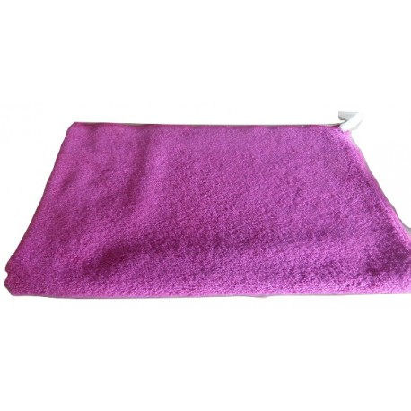Pink organic cotton french terry hand towel - 100% organic cotton